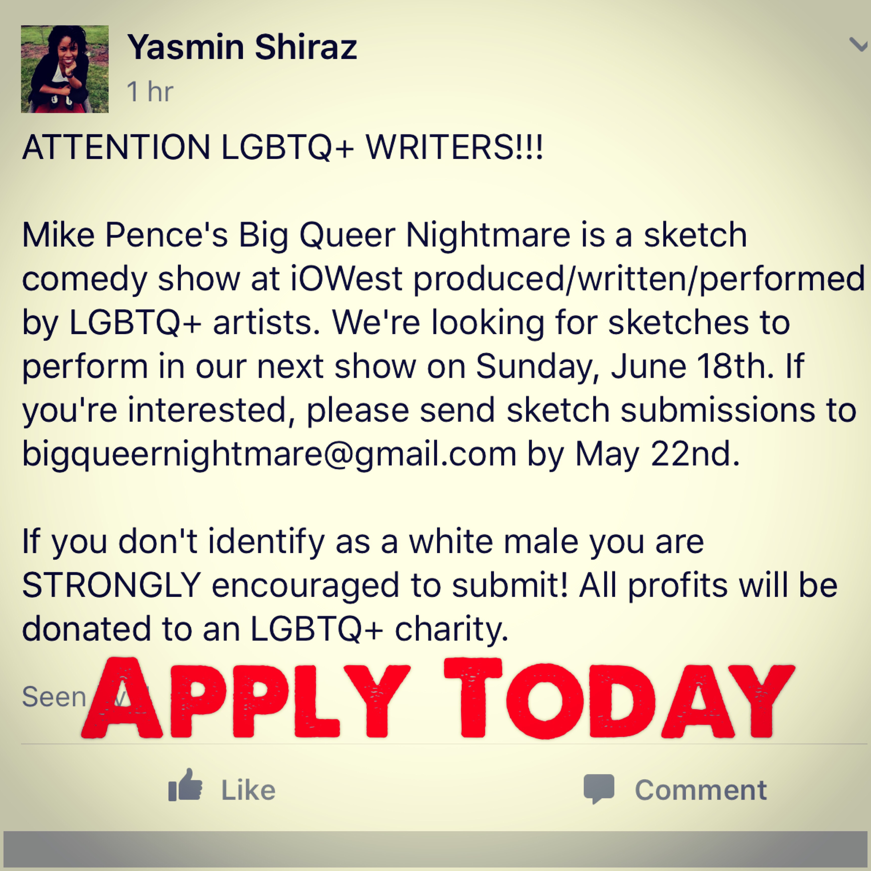 Calling LGBT Writers